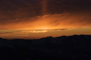 Uno dei nostri splendidi tramonti!
